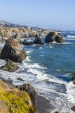 Wild pacific coast Stock Image