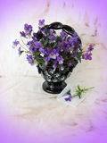 Wild pansy in vase Royalty Free Stock Photo
