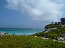 Wild and paradisiac beach, intense colours royalty free stock image