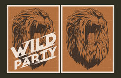 Wild party invitation template. Royalty Free Stock Photography