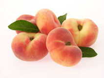 Wild peaches. Group of wild or mountain peaches with leaves Stock Photos