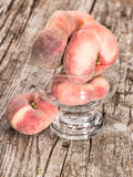 Wild Peaches in a bowl Stock Image