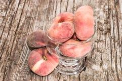 Wild Peaches in a bowl Royalty Free Stock Photos