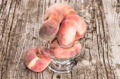 Wild Peaches in a bowl Royalty Free Stock Photography