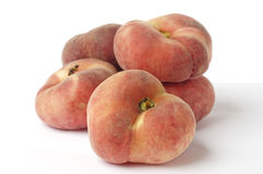 Wild peaches. Five wild peaches on a stack Stock Photo