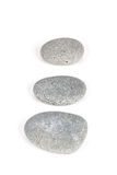 Wild pebble stone on white background Royalty Free Stock Photography