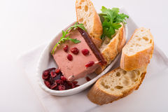 Wild pie with aspic and cranberry Royalty Free Stock Photography