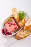 Wild pie with aspic and cranberry Stock Photo