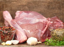 Wild-pig roast Stock Images