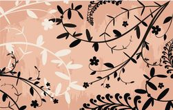 Wild plants background. Vector drawing of the wild plants background Stock Images