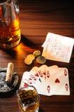 wild poker Arkivbild