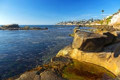 Bird Rock Pacific Ocean Coastline San Diego California royalty free stock photography