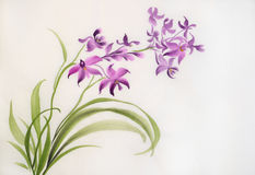 Wild purple orchids Royalty Free Stock Image