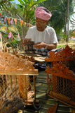 Wild Quail Trap Cage maker Stock Photos