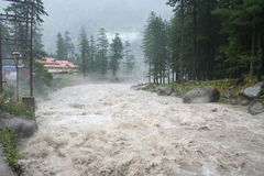 Wild Raging Himalayan River Torrent Manali India Stock Images