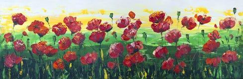 Free Wild Red Poppies Panel Stock Photo - 46124870