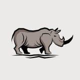 Wild Rhino Vector Stock Image