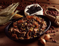 Wild rice with bacon Stock Image
