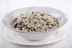 Wild rice in a bowl Royalty Free Stock Photography
