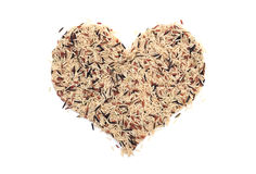 Wild rice in a heart shape Royalty Free Stock Photography