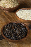 Wild Rice, Quinoa and Brown Rice Royalty Free Stock Images