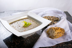 Wild Rice Soup. Bowl of Wild Rice and carrot soup Stock Photography