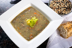 Wild Rice Soup. Bowl of Wild Rice and carrot soup Stock Image