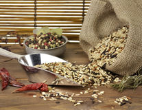 Wild Rice And Spices Royalty Free Stock Photos