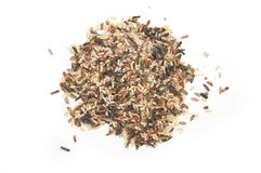 Wild Rice Top View of Pile Stock Image