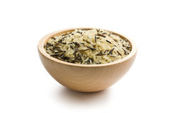 Wild rice in wooden bowl Stock Photography