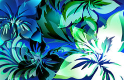 Wild ride. Exotic animal like tropical jungle floral print with layered shadows and color highlights Royalty Free Stock Photo