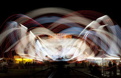 Wild Ride at the Amusement Park. Wild ride at night at the amusement park Royalty Free Stock Photo