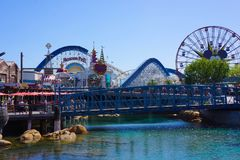 Paradise Pier at California Adventure Royalty Free Stock Images