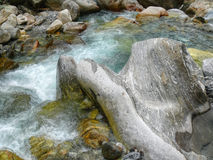Wild River and boulders Stock Image