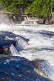 Wild river with cascade waterfalls Stock Photo