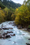 Wild river Etsch. Near Laas, South Tyrol Stock Image