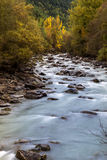 Wild river Etsch. Near Laas, South Tyrol Royalty Free Stock Images