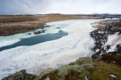 Wild river in Iceland Royalty Free Stock Photos