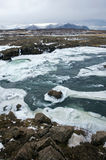 Wild river in Iceland Royalty Free Stock Image