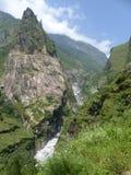 Wild river Marsyangdi royalty free stock images