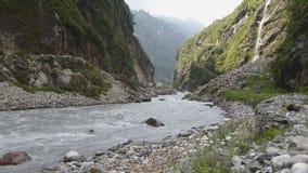 Wild river Marsyangdi stock video footage