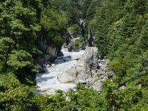 Wild river Marsyangdi royalty free stock image