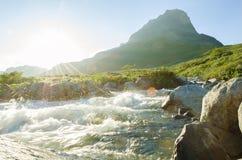 Wild river sun Stock Photo