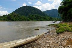 Wild rivers on an island Borneo in Indonesia Stock Image