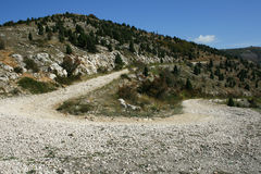 Wild road. Gravel road in the crimean mountain Royalty Free Stock Photography