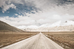 Wild road in a valley. A wild road in a valley Royalty Free Stock Image