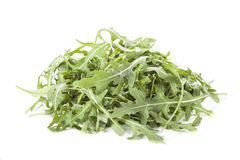 Wild rocket. Heap of green wild rocket on isolated background Royalty Free Stock Photography