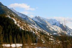 Wild rockies, jasper. Jasper national park, alberta, canada, sunny weather, first snow Stock Photo