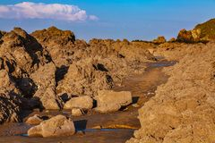 Wild Rocky Beach stock images