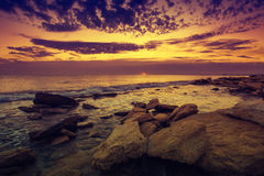 Wild rocky beach Royalty Free Stock Photography
